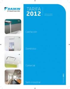 Nueva tarifa de aire acondicionado Daikin 2012